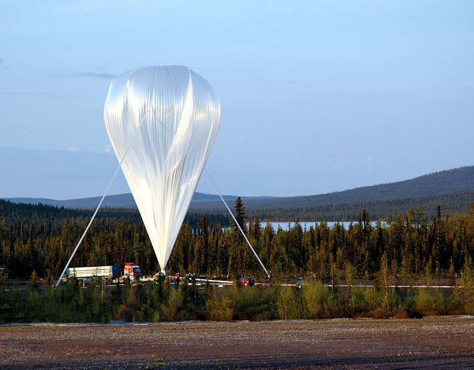 Balloon launch Esrange